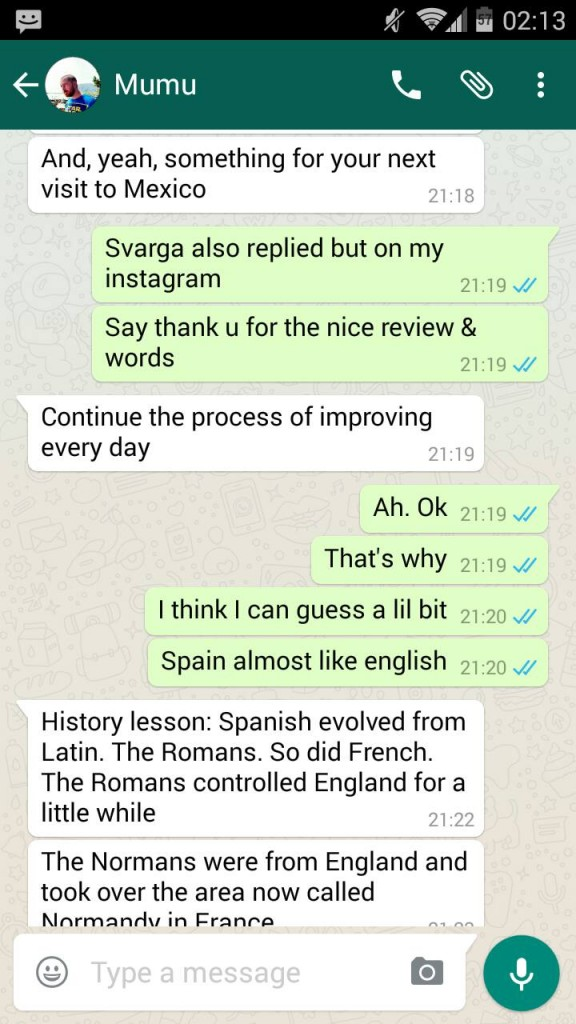 whatsapp chat with suami