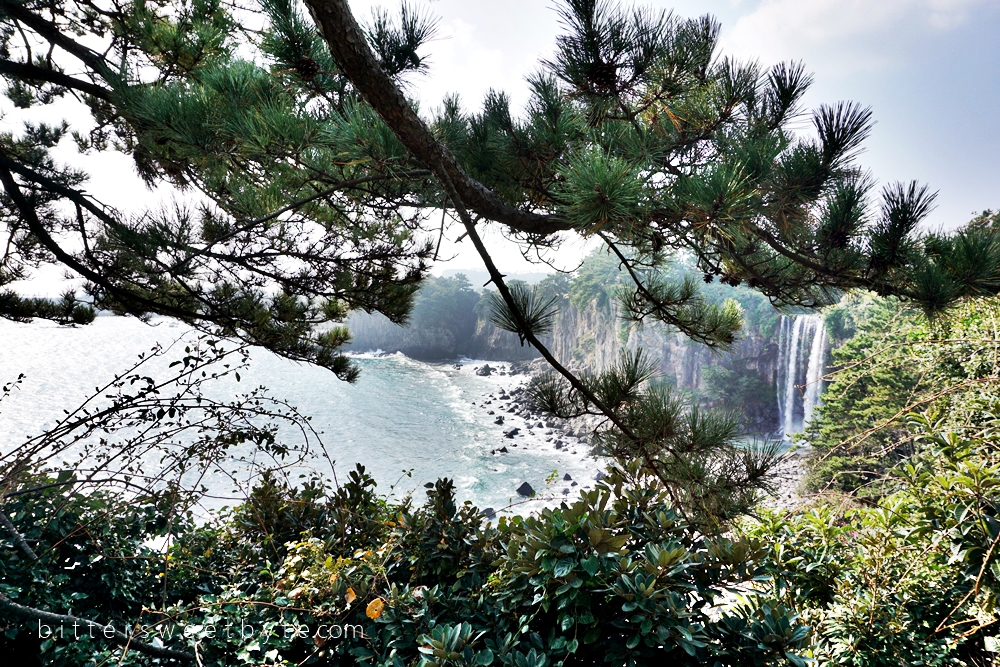 Place of Interest in Jeju Island : Jeongbang Waterfall