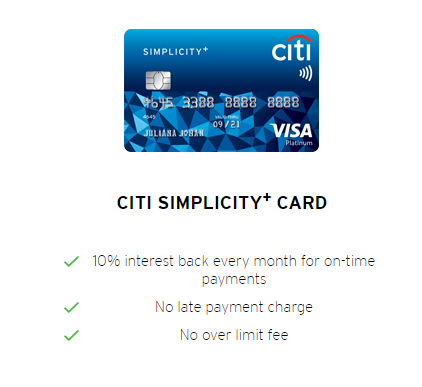 Citibank Credit Card no over limit fee