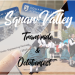 Aerial Tram and Octoberfest at Olympic Village, Squaw Valley, California.