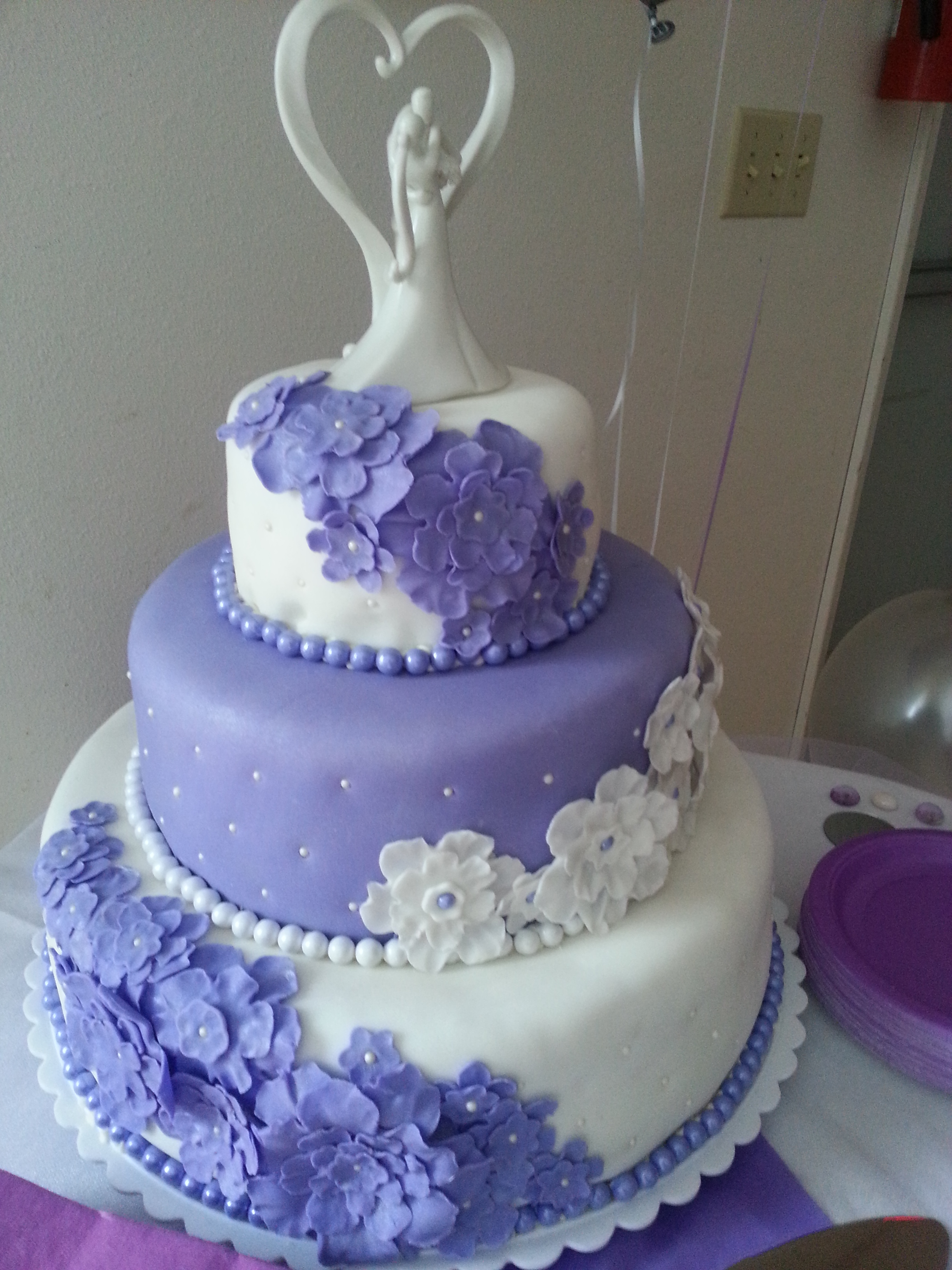 Purple lavender Wedding cake in Alaska