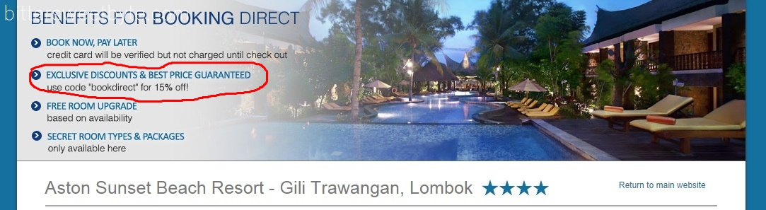 Aston Sunset Gili Trawangan book direct
