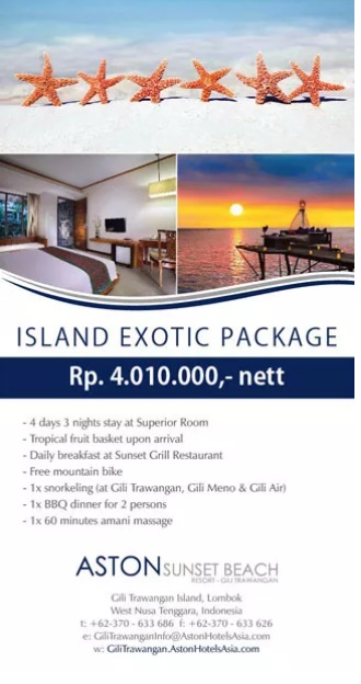 Aston Sunset Gili Trawangan package