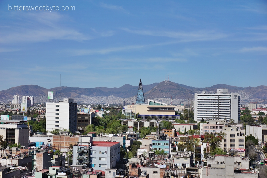 View from Monumento a la Revolucion Mexico City 1