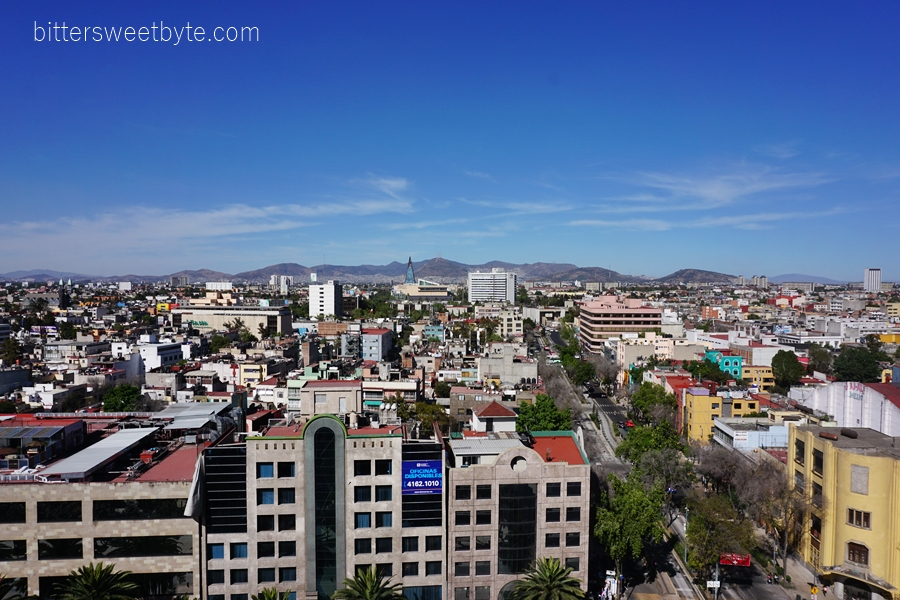 View from Monumento a la Revolucion Mexico City 4