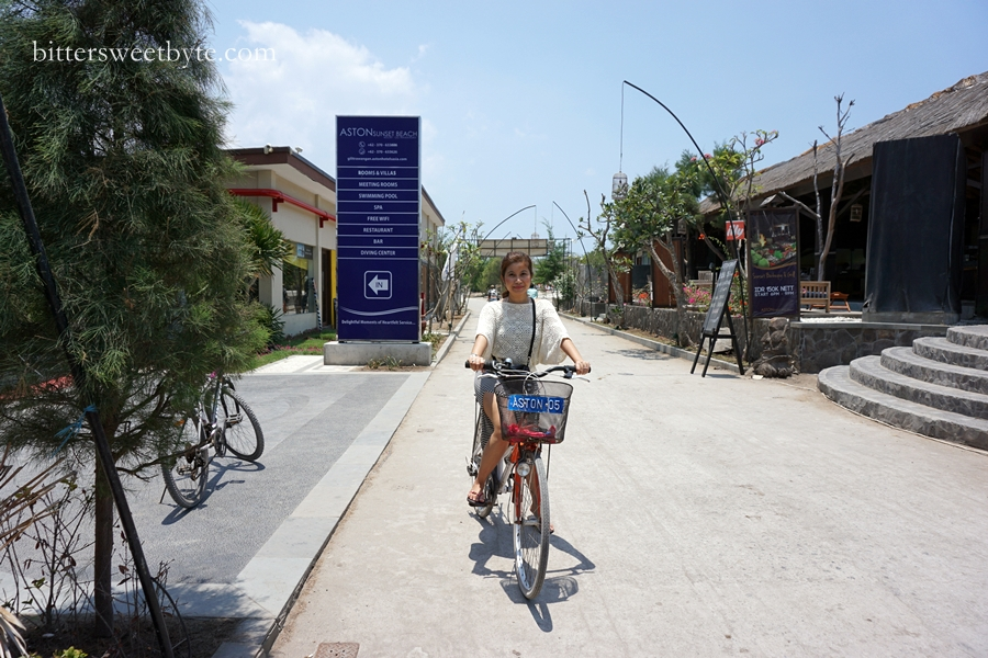 bicycle ride in gili trawangan
