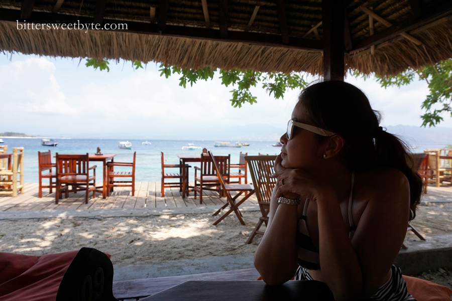 lunch in gili trawangan