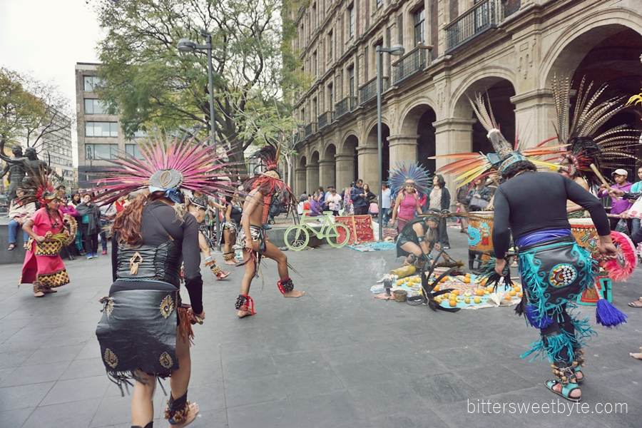 tribal dance in the city mexico